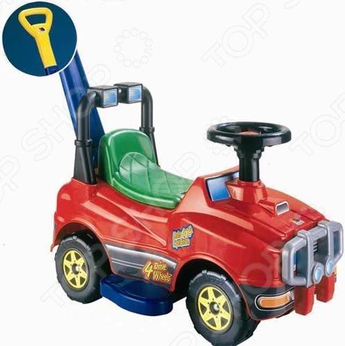 Машина-каталка со звуком «Джип с ручкой и гудком» Машина-каталка с гудком Полесье «Джип». В ассортименте