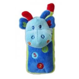 фото Мягкая игрушка развивающая Жирафики «Динозаврик-телефон»
