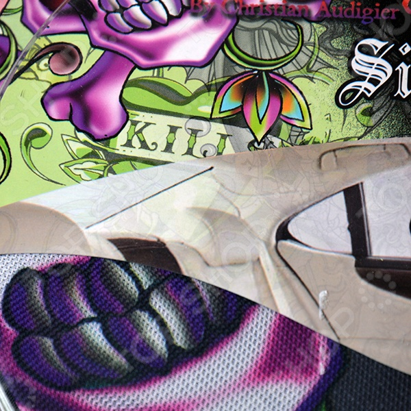 Шторка солнцезащитная на боковые стекла ED Hardy EH-00108 Love Kills Slowly - фото 3