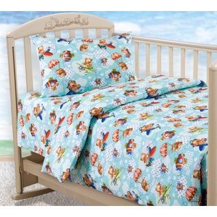 Купить Ясельный комплект постельного белья Бамбино «Самолетики»