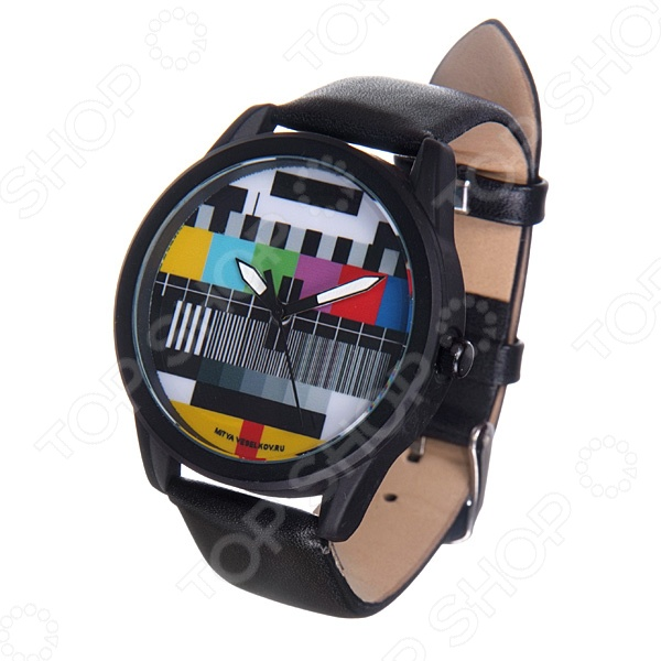 Часы наручные Mitya Veselkov «ТВ-сетка» MVBlack часы наручные mitya veselkov британский флаг mvblack 22