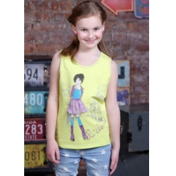 фото Майка для девочек Detiland SS15-UBL-GTP-951. Цвет: лайм. Рост: 134 см