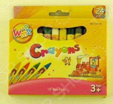 Набор мелков восковых Beifa «Волшебник»: 24 цвета