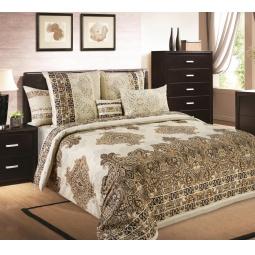 фото Комплект постельного белья Королевское Искушение с компаньоном «Индонезия». 2-спальный. Размер простыни: 220х240 см