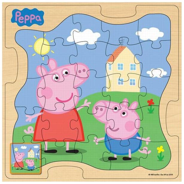 фото Пазл деревянный Peppa Pig «У дома»