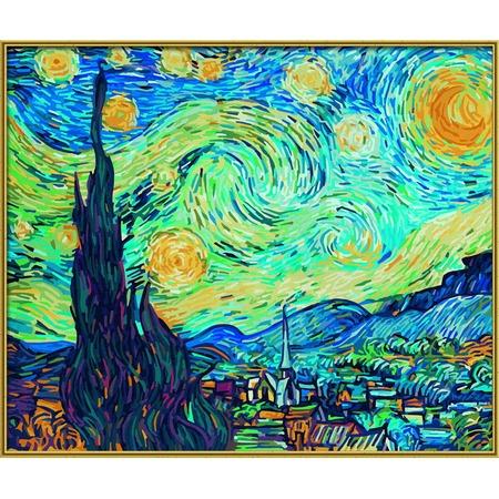 Купить Набор для рисования по номерам Schipper Ван Гог «Звездная ночь»