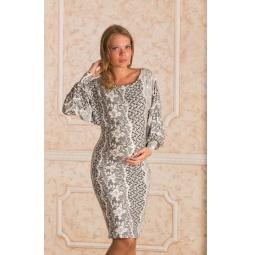 Купить Платье для беременных Nuova Vita 2138.2. Цвет: черный, белый