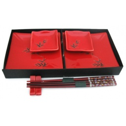 Купить Набор для суши Elan Gallery «Бамбук на красном» большой