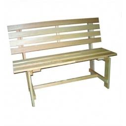 Купить Скамейка для бани и сауны Банные штучки со спинкой