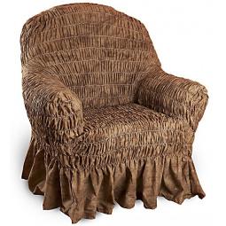 Натяжной чехол на кресло «Фантазия. Шоколад»