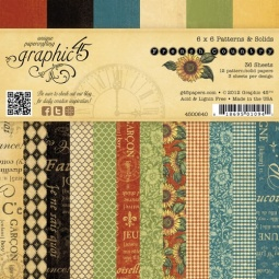 фото Набор бумаги Graphic45 Patterns & Solids French Country