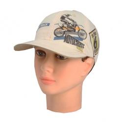 Купить Бейсболка для мальчиков Shapochka Motocross. Цвет: бежевый