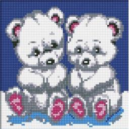 фото Набор для создания мозаичной картины Белоснежка «Медвежата»