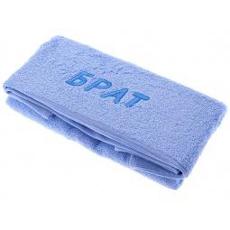 фото Полотенце подарочное с вышивкой TAC Брат. Цвет: голубой