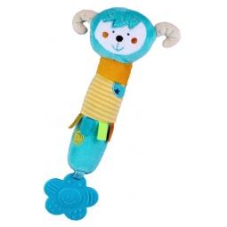 фото Мягкая игрушка развивающая Жирафики «Обезьянка с пищалкой и прорезывателем»