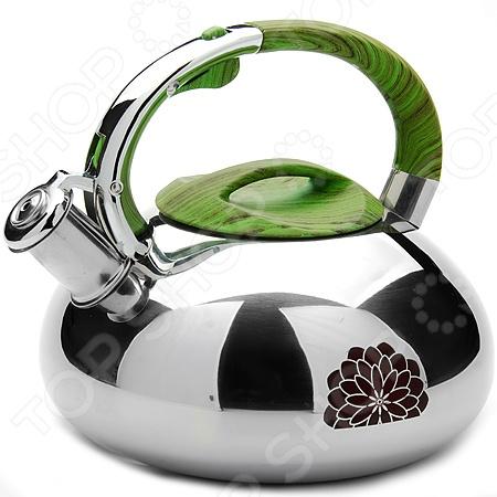 Чайник со свистком Mayer&amp;amp;Boch MB-23589 «Термо»Чайники со свистком и без свистка<br>Чайник Mayer Boch MB-23589 Термо оборудован свистком для определения закипания воды и изготовлен из высококачественной нержавеющей стали. Корпус из стали долговечен, не подвергается коррозии и обладает антиаллергенными свойствами. Декорированная часть корпуса меняет цвет при нагревании. Фиксированная ручка модели очень удобна и не нагревается, т.к. изготовлена из термостойкого нейлона. На ней находится механизм открытия носика-свистка. Широкое цельнометаллическое дно распределяет тепло равномерно по всей поверхности, что обеспечивает быструю скорость закипания воды и устойчивость изделия. Герметичная крышка не пропускает пар, поэтому вода долго остается горячей. Изящная форма чайника и зеркальная поверхность корпуса придают ему эстетичности на столе. Подходит для всех видов плит, кроме индукционных. Можно мыть в посудомоечной машине.<br>