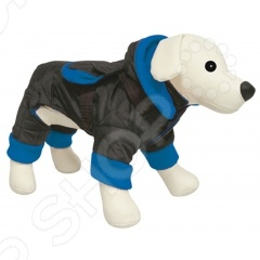 Комбинезон для собак DEZZIE «Блэк»Комбинезоны<br>Комбинезон для собак DEZZIE Блэк это удобная и комфортная одежда для ваших питомцев. В таком комбинезоне собака не просто будет чувствовать себя комфортно, но и выглядеть стильно и оригинально. Вы сможете подобрать комбинезон своему любимцу в тон своей верхней одежде. А еще комбинезон согреет вашего питомца в холодную и сырую погоду и защитит шерсть от загрязнений. У комбинезона есть мягкая и теплая флисовая подкладка. Комбинезон легко снимается и одевается благодаря застежкам на липучках .<br>