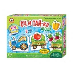 фото Игра настольная на липучках Русский стиль «Считай-ка. Овощи»