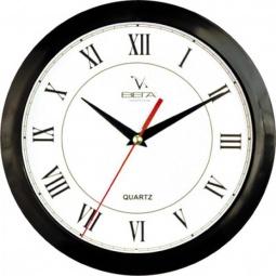 Купить Часы Вега П 1-6/6-47 «Черный кант - Римские» Классика
