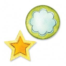фото Форма для вырубки на магнитной основе Sizzix Movers & Shapers Die Звезды и круги