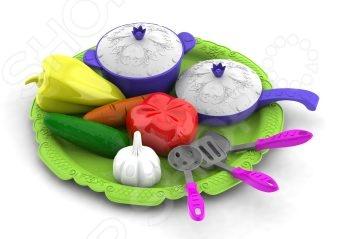 Игровой набор для девочки Нордпласт «Волшебная хозяюшка. Посуда и овощи»