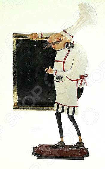Доска для записей «Повар»Офисные доски. Флипчарты. Стенды<br>Доска для записей Повар оригинальный и практичный аксессуар для вашей кухни. Изделие поможет быстро сохранить понравившийся рецепт в зоне видимости, чтобы сразу его приготовить. На доске можно оставлять небольшие напоминания и теплые слова для домочадцев, списки продуктов для покупки и прочие важные пометки. Столь оригинальная вещица обязательно станет украшением кухонного интерьера, наполнит его теплом и уютом.<br>