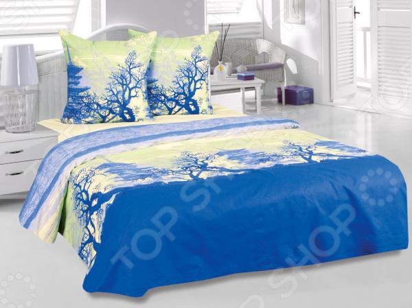 Комплект постельного белья Tete-a-Tete «Шанхай» с дополнительной простыней в подарок. 1,5-спальный1,5-спальные<br>Комплект постельного белья Tete-a-Tete Шанхай с дополнительной простыней в подарок это незаменимый элемент вашей спальни. Человек треть своей жизни проводит в постели, и от ощущений, которые вы испытываете при прикосновении к простыням или наволочкам, многое зависит. Чтобы сон всегда был комфортным, а пробуждение приятным, мы предлагаем вам этот комплект постельного белья. Приятный цвет и высокое качество комплекта гарантирует, что атмосфера вашей спальни наполнится теплотой и уютом, а вы испытаете множество сладких мгновений спокойного сна. В качестве сырья для изготовления этого изделия использованы нити хлопка. Натуральное хлопковое волокно известно своей прочностью и легкостью в уходе. Волокна хлопка состоят из целлюлозы, которая отлично впитывает влагу. Хлопок дышит и согревает лучше, чем шелк и лен. Поэтому одежда из хлопка гарантирует владельцу непревзойденный комфорт, а постельное белье приятно на ощупь и способствует здоровому сну. Не забудем, что хлопок несъедобен для моли и не деформируется при стирке. За эти прекрасные качества он пользуется заслуженной популярностью у покупателей всего мира. Комплект постельного белья выполнен из ткани бязь. Бязь это одна из самых популярных тканей. Постоянному спросу на такую ткань способствует то, что на протяжении многих лет она остается незаменимой в производстве постельного белья, медицинской одежды, мужских сорочек и даже детских пеленок. Это объясняется уникальными свойствами такой ткани: гладкая и приятная на ощупь, но в то же время очень прочная и стойкая к многочисленным стиркам. Комплект из бязи прослужит очень долго, если соблюдать простые рекомендации. Необходимо стирать при температуре 40 , используя порошок для цветного белья. Не применять хлорсодержащие средства и отбеливатели. Желательно выворачивать белье наизнанку перед стиркой. Гладить при помощи утюга с функцией подачи пара или через вла