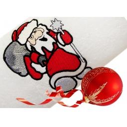 фото Полотенце подарочное с вышивкой TAC Santa claus. Цвет: белый