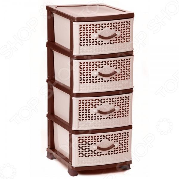 Комод 4-х секционный IDEA М 2781Комоды<br>Комод 4-х секционный IDEA М 2781 поможет вам организовать пространство в коридоре, гостиной, детской или спальне. На полочках комода отлично разместятся вещи, которые нельзя вешать на вешалки. Особенно удобно в нем хранить объемный трикотаж. В ящики вы можете убрать разбросанные по квартире детские игрушки, сложить туда одежду или белье. Убрав вещи в комод, вы сразу заметите, насколько просторнее стала ваша квартира.<br>