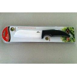 фото Нож керамический Appetite Сантоку с изогнутой рукоятью. Цвет лезвия: белый