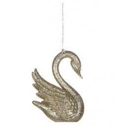 фото Елочное украшение Christmas House «Лебедь». Цвет: золотистый