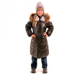 Купить Пальто детское для девочки Sp-Show ЯВ115063. Цвет: черный