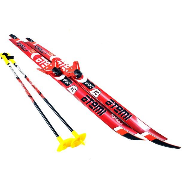 фото Комплект лыжный ATEMI Formula STEP 2012 75 мм. Цвет: серый. Ростовка (длина лыжи): 160 см