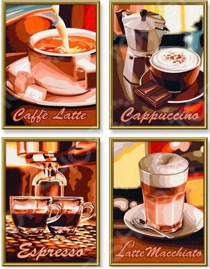 Набор для рисования по номерам Schipper «Кофе»