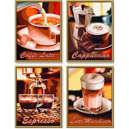 Купить Набор для рисования по номерам Schipper «Кофе»