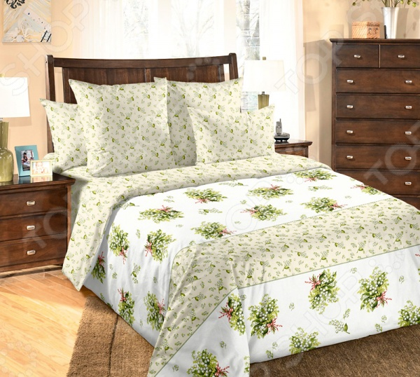 Комплект постельного белья Белиссимо «Ландыши» 1713979 комплект постельного белья белиссимо константин