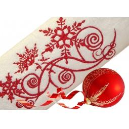 фото Полотенце подарочное с вышивкой TAC Snow picture. Цвет: белый