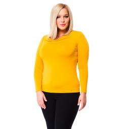 фото Кофта Mondigo XL 1464. Цвет: ярко-горчичный. Размер одежды: 52