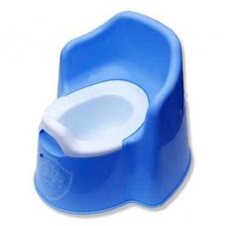 фото Горшок детский Little king пластиковый. Цвет: голубой