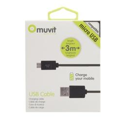 фото Кабель для зарядки и синхронизации Muvit USB на Micro USB