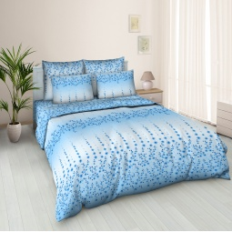 фото Комплект постельного белья Jardin «Цветочная аллея 01». Евро
