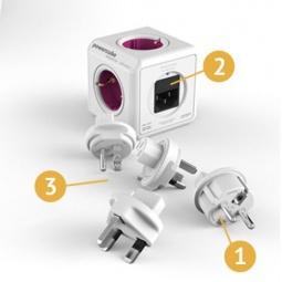 фото Розетка-разветвитель с USB-портом Master Kit Power Cube Офис FB0024