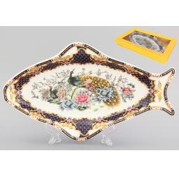 Купить Блюдо Elan Gallery «Павлин на золоте» 740097