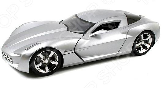 Модель автомобиля 1:18 Jada Toys 2009 Corvette Stingray Concept - Glossy Sillver автомобиль jada toys corvette stingray concept glossy 1 18 серебристый 96326s