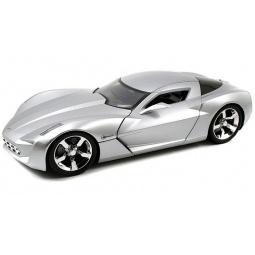 фото Модель автомобиля 1:18 Jada Toys 2009 Corvette Stingray Concept - Glossy Sillver