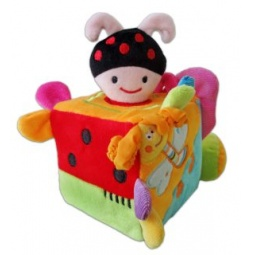 фото Мягкая игрушка развивающая Жирафики «Кубик с жучком»