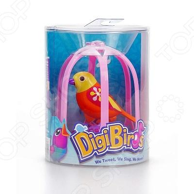 фото Игрушка интерактивная Digibirds «Птица с большой клеткой и кольцом», Мягкие интерактивные игрушки