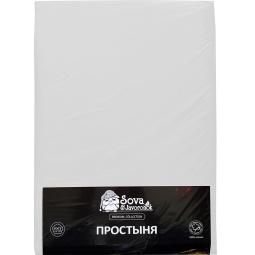 фото Простыня гладкокрашеная Сова и Жаворонок Premium. Цвет: белый. Размер простыни: 195х220 см
