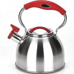 фото Чайник со свистком Mayer&Boch Frozen Wistle. Цвет: серебристый, красный, чёрный