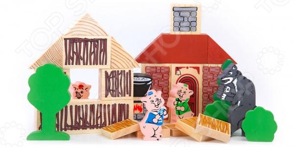 Конструктор деревянный Томик «Три поросенка»